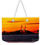 Sunset Over The Skyway Bridge Crop Weekender Tote Bag