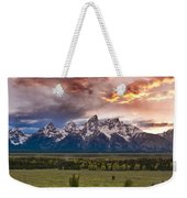 Sunset Over The Tetons  Weekender Tote Bag