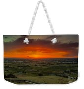 Sunset Over The Valley Weekender Tote Bag by Robert Bales