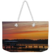 Sunset Over The Wando River Weekender Tote Bag
