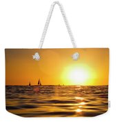 Sunset Over The Water In Waikiki Weekender Tote Bag