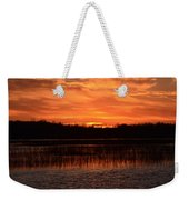 Sunset Over Tiny Marsh Weekender Tote Bag