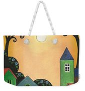 Sunset Over Town Weekender Tote Bag