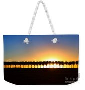 Sunset Over Tree Lined Road Weekender Tote Bag