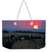 Sunset Over Tuscany In Italy Weekender Tote Bag