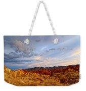 Sunset Over Valley Of Fire State Park In Nevada Weekender Tote Bag