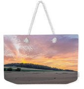 Sunset Over Wheat Weekender Tote Bag