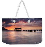 Sunset Pier Weekender Tote Bag by Mike  Dawson