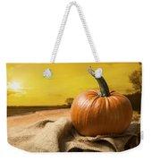 Sunset Pumpkin Weekender Tote Bag