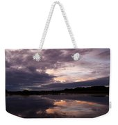 Sunset Reflected In A Lake Weekender Tote Bag
