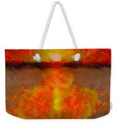 Sunset Reflections On The Dock Weekender Tote Bag
