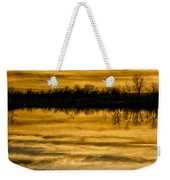 Sunset Riverlands West Alton Mo Sepia Tone Dsc03319 Weekender Tote Bag