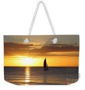 Sunset Sailing Weekender Tote Bag