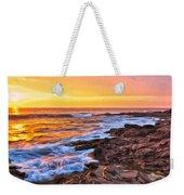 Sunset Shore Break Weekender Tote Bag