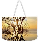 Sunset Silhouette And Reflections Weekender Tote Bag