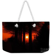 Sunset Silhouette Painterly Weekender Tote Bag