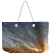 Sunset Sky With Cirrocumulus Clouds Usa Weekender Tote Bag