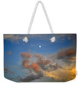 Sunset Sky With Gibbous Moon And Clouds Usa Weekender Tote Bag