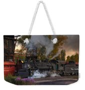 Sunset Steam Weekender Tote Bag