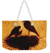 Sunset Stork Family Silhouettes Weekender Tote Bag