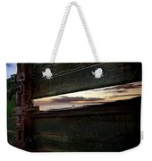 Sunset Throough The Fence Weekender Tote Bag