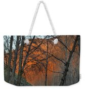 Sunset Through The Forest Weekender Tote Bag