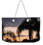 Sunset Through The Palms Weekender Tote Bag