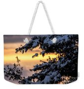 Sunset Through The Snowy Branches Weekender Tote Bag