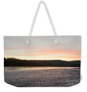 Sunset Twilight Over Taiga At Yukon River Canada Weekender Tote Bag