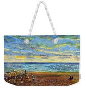 Sunset Volleyball At Old Silver Beach Weekender Tote Bag