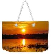 Sunset Walk In The Water Weekender Tote Bag