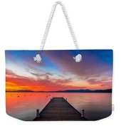 Sunset Walkway Weekender Tote Bag