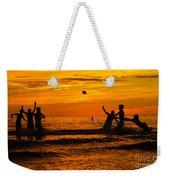 Sunset Water Football Weekender Tote Bag