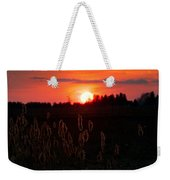 Sunset Wheat Field Weekender Tote Bag