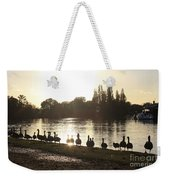 Sunset With Geese On The Thames Weekender Tote Bag