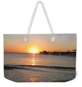 Fishingpier Sunset Weekender Tote Bag