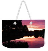 Sunset With Reflection Weekender Tote Bag