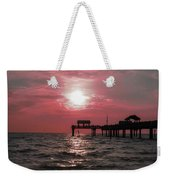 Sunsetting On The Gulf Weekender Tote Bag