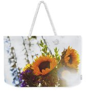 Sunshine And Sunflowers Weekender Tote Bag
