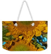 Sunshine And Turquoise  Weekender Tote Bag