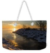 Sunshine On The Ice - Lake Ontario Toronto Canada Weekender Tote Bag