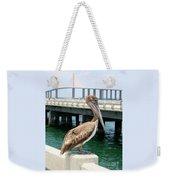 Sunshine Skyway And Pelican Weekender Tote Bag by Carol Groenen