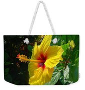 Sunshine Yellow Hibiscus With Red Throat Weekender Tote Bag
