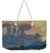 Sunup On A Snowsquall Weekender Tote Bag