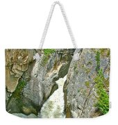 Sunwapta Falls Along  Icefields Parkway In Alberta Weekender Tote Bag