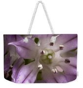 Super Close Up Of A Chive Flower Weekender Tote Bag