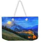 Super Moonrise Over Banff Weekender Tote Bag