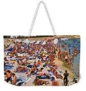 Super Paradise Beach In Mykonos Island Weekender Tote Bag