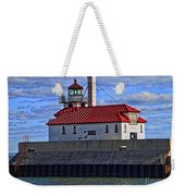 Superior And Duluth Harbor Lighthouse Weekender Tote Bag