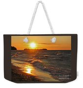 Superior Sunset Weekender Tote Bag